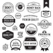 Set of badges and elements — Stock Vector