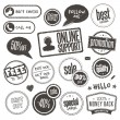 Set of hand drawn style banners and elements - Vettoriali Stock
