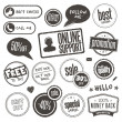 Set of hand drawn style banners and elements - Imagens vectoriais em stock