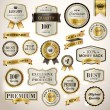 Set luxury labels and ribbons — Stock Vector