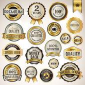 Conjunto de placas de lujo y pegatinas — Vector de stock