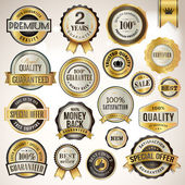 Set of luxury badges and stickers — Stok Vektör