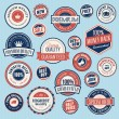 Set of vintage labels and stickers for sale - Stok Vektr