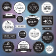 Set of luxury badges and stickers  — Imagens vectoriais em stock
