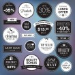 Set of luxury badges and stickers  — Imagen vectorial