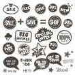 Set of hand drawn style badges and elements - Stock Vector