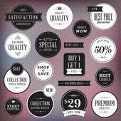 Set of luxury labels and badges — Stock Vector