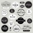 Set of labels and elements — Stock Vector