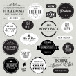 Stock Vector: Set of labels and elements