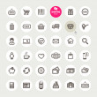 Set of shopping icons - Stok Vektr