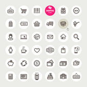 Conjunto de iconos de compras — Vector de stock