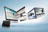 Koncepcja projektu sieci web — Zdjęcie stockowe