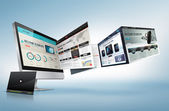 Web designkoncept — Stockfoto