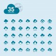 Set of cloud computing icons — Stock Vector