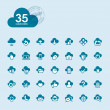 Set of cloud computing icons - Stock Vector