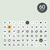Arrow icon set — Vector de stock