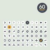 Pilen ikonuppsättning — Stockvektor