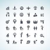 Satz von geschäfts-konzept-ikonen — Stockvektor