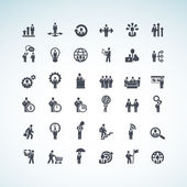 Set of business concept icons — Vector de stock