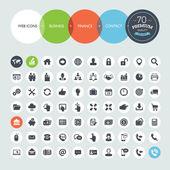 Ensemble d'icônes de l'entreprise — Vecteur
