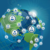 Sociala nätverk koncept — Stockvektor