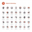 Media and Advertising icons — Stock Vector #25050639