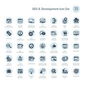 SEO and Development icon set — Stock Vector