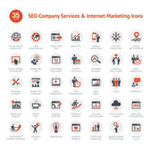 Conjunto de iconos marketing y seo — Vector de stock