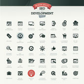 SEO and development icon set — Stock Vector