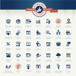 Set of business icons for internet marketing and services — Vector de stock