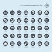 Set of business icons for SEO and development — Stock Vector