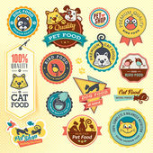 Set of animal labels and stickers — Stockvektor