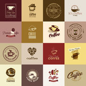Set of coffee icons — Stok Vektör