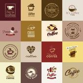 Set van koffie pictogrammen — Stockvector