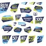 conjunto de placas y etiquetas para la venta — Vector de stock  #26653227