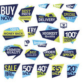 Set of badges and labels for sale — Stock Vector