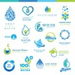 Set of water icons — Stock Vector