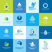 Set of icons for all types of water — Stock Vector