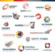 Set of modern designed icons — Stock Vector