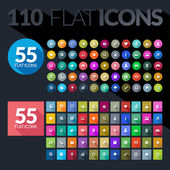 Set of flat icons for mobile app and web — Stockvector