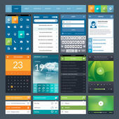 Set of flat design ui elements for mobile app and web — Stockvector