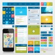 Stock Vector: Flat icons and ui web elements for mobile app and website design