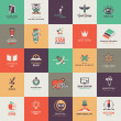 Vector de stock : Set of quality designed art and education icons
