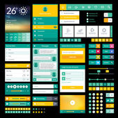 Set of flat icons and elements for mobile app and web design — Vettoriale Stock