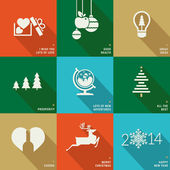 Set of icons, banners and cards for Christmas and New Year — Stock vektor
