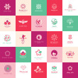 Set of icons for beauty, cosmetics, spa and wellness — Stock Vector #36024777