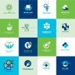 Set of medical flat icons — Grafika wektorowa