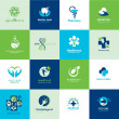 Set of medical flat icons — Stock Vector #36024873