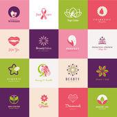Набор символов красоты — Cтоковый вектор