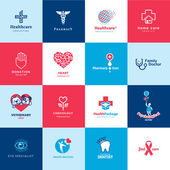Set of medical and healthcare icons — Stock Vector